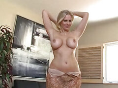 Busty blonde wife Julia Ann sucking & gets facial