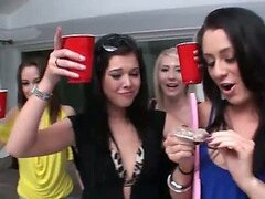 Slutty Babes Fucking a Stripper In Bachelorette Party