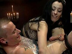 Femdom Games With A Smoking Hot Brunette