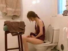 you can see in this HD movie naked busty brunett in the bathroom