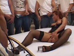 Countless Men Waiting In Line To Fuck Jenna Red's Holes in Gangbang