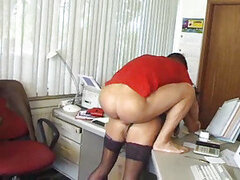 Slut in her home office doing hardcore scene