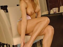 A breathtaking blonde beauty always manages to have a kinky time when alone