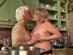Two Naughty Grannies Having Lesbian Strapon Sex with Pretty Blonde Teen