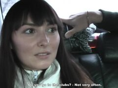 Close up view of a college girls sucking a cock in a car