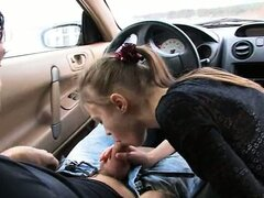 charming blowjob in my car