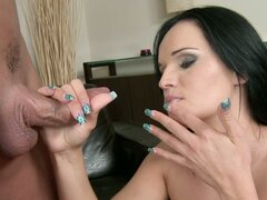 Fine brunette gets a hard fucking and face creaming