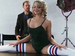 Flexible blond dancer mia malkova...
