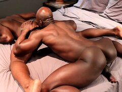 Ebony musclemen will show you what hard gay sex is all about