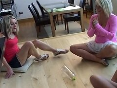 Demi & Michelle play Strip Spin-the-Bottle