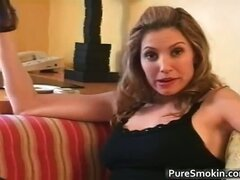 Pretty brunette MILF Jamie Lynn smokes part4