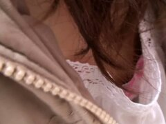 Japanese girl downblouse avi video on the street