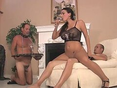 Chastity lady get laid
