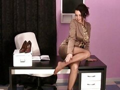 Hot MILFS in The Office Wearing Satin