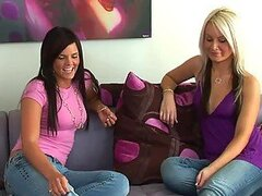 Blonde And Brunette Teens Love Having Lesbian Moments