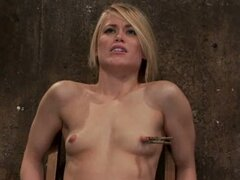 Harcore BDSM sex video with naughty blonde with small tits