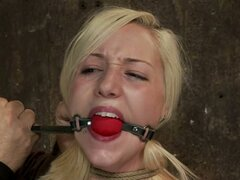 Blistering Rylie Richman gets tied up & gagged