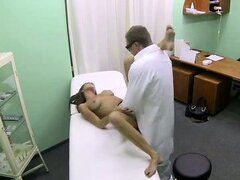 Real patient pumped with doctors cum
