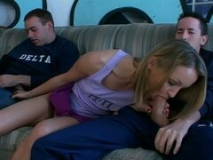 Kelly the co-ed in hot threesome