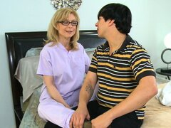 Classic Milf Nina Hartley gets groped and then gets cunt eaten out