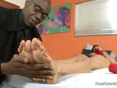 Nadia Loves Her Feet Worshipped and Black Cock Between Her Soles