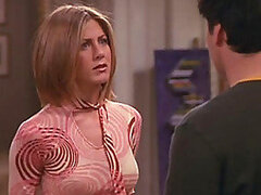 Jeniffer Aniston on her hit show Friends wearing sexy clothes