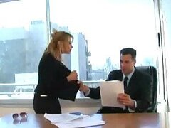 Argentinian Blonde Babe Gets Her Clothes Ripped Off in a Rough Office Fuck