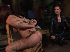 Maria Bellucci gets her ass spanked and her pussy toyed