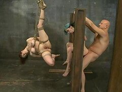 Fucking a Redhead and a Blue-Haired Babes In BDSM Sex Vid