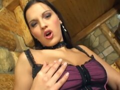 Dobos eva masturbating her wet cunt in a barn