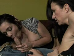 Banging the Mother and The Daugther in Amazing Threesome