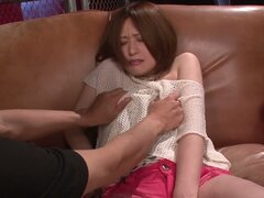 Shy japanese babe Ruri Haruka take off her clothes