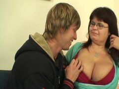 Mature fatty is picked up and pussy slammed