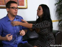 Sienna West and her bodacious tattas seduce his dick from his pants