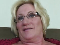 Blonde Granny in Glasses