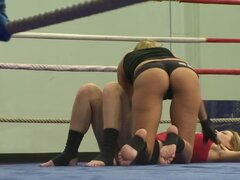 Blonde Beauties Fighting for Supremacy in Wrestling Porn Vid - Backstage