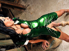 Nicolly's Big Cock Bursts Out of Latex