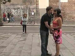 Guy Takes Girlfriend For Surprise Walk To Get Fucked & Humiliated In Public