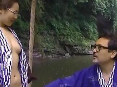 Rural Asian MILF Gets Her Hairy Pussy Fucked Hard Outdoors