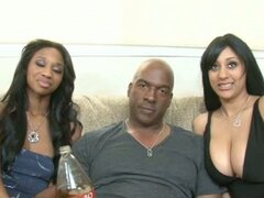 Jadena & london  in a hot strip tease dance fucked by thick black cock