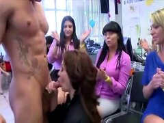 Amateur cfnm party girls facials