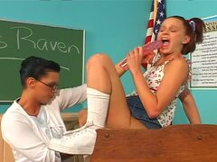 Young teen and her lesbian teacher
