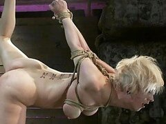 Tender Blonde and Brunette Get Tied Up and Abused In BDSM Vid