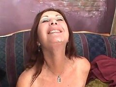 Hot MILF Anastasia Sands Getting A Mouthful Of Cum