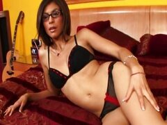 Heather Vahn with glasses and Mick Blue