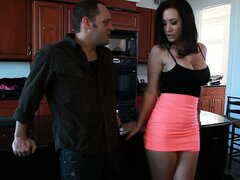 Jayden Jaymes is just as eager as he is to get his cock...