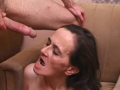 Hairy mature housewife and the repairman 4