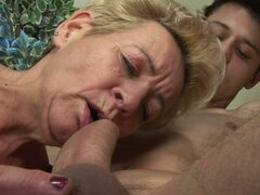Pretty Boy Having Fun with a Naughty Kinky Grandma
