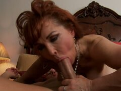 Voracious granny Vanessa deepthroat sucking...