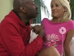 Big Black guy fucks sexy blonde girl with his huge dick